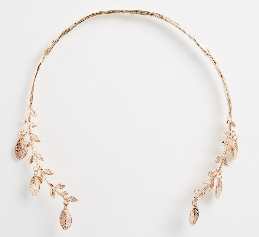 ASOS Leaf Open Collar Necklace