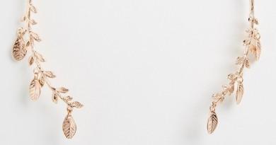 Rose Gold Leaf Open Collar Necklace