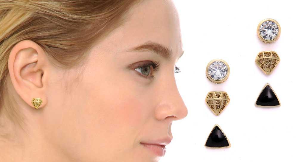 Adia Kibur 3 pack earrings