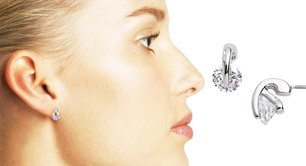 Givenchy Crystal Silver Studs