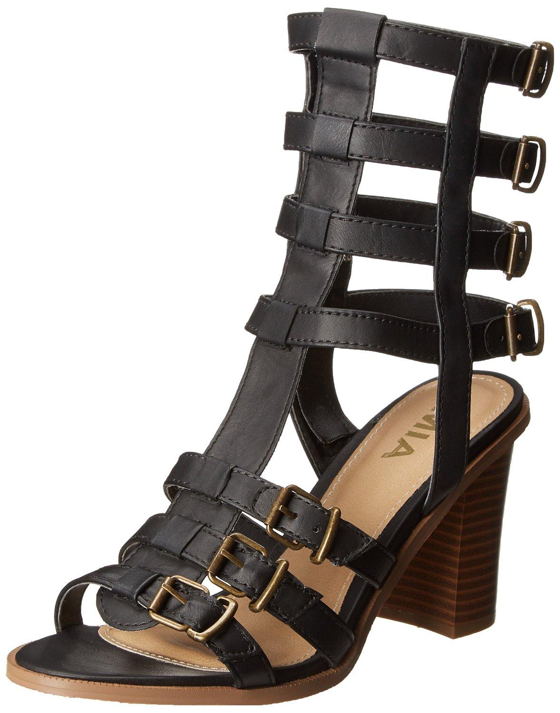 MIA Athens Gladiator Sandal in Black