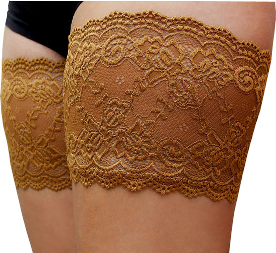 Bandelettes in Lace Caramel