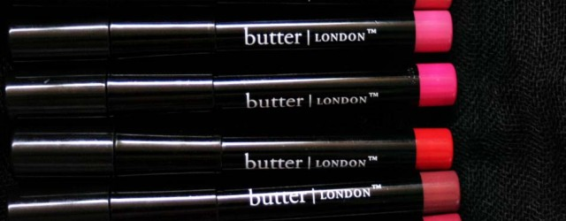 Butter London Bloody Brilliant Lip Crayon in Swatch and Product-15
