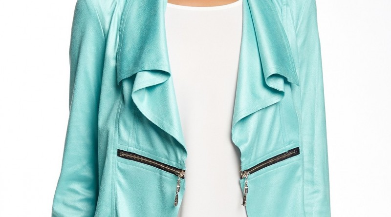 Insight Faux Leather Waterfall Jacket