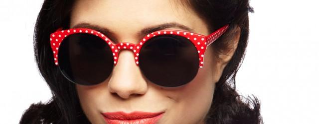 Car Cruise Boogie Red Polka Dot Sunglasses