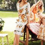 Eva Mendes Orange Floral Dress