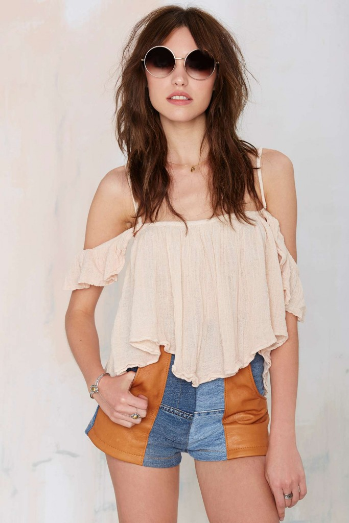 Jen's Pirate Booty Off Shoulder Top, $44