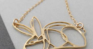 Bonny Rabbit Contour Rabbit Necklace