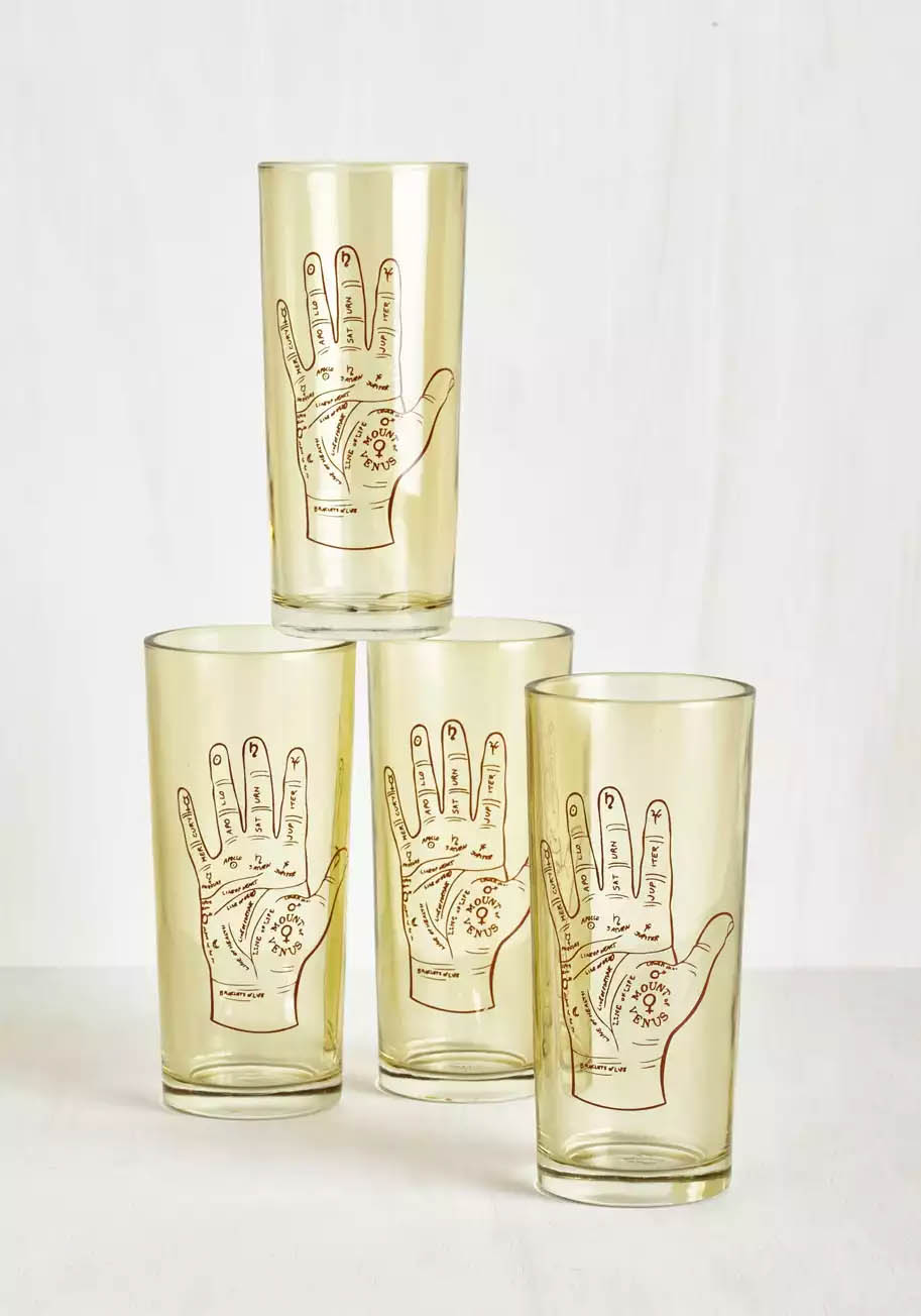 Palmistry Glass Set