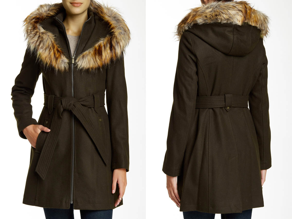 Rachel Roy Fur Lined Coat