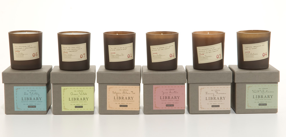 Paddywax Library Candle Collection