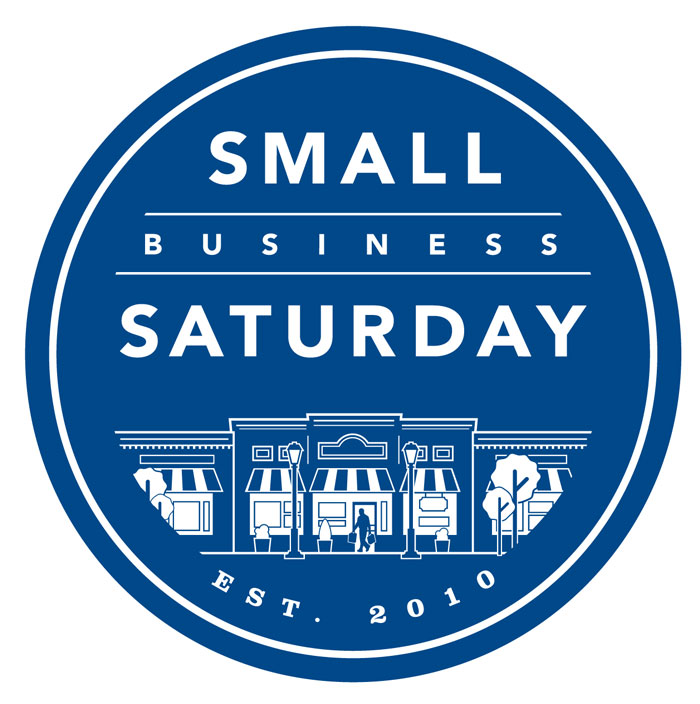 small business saturday round blue logo