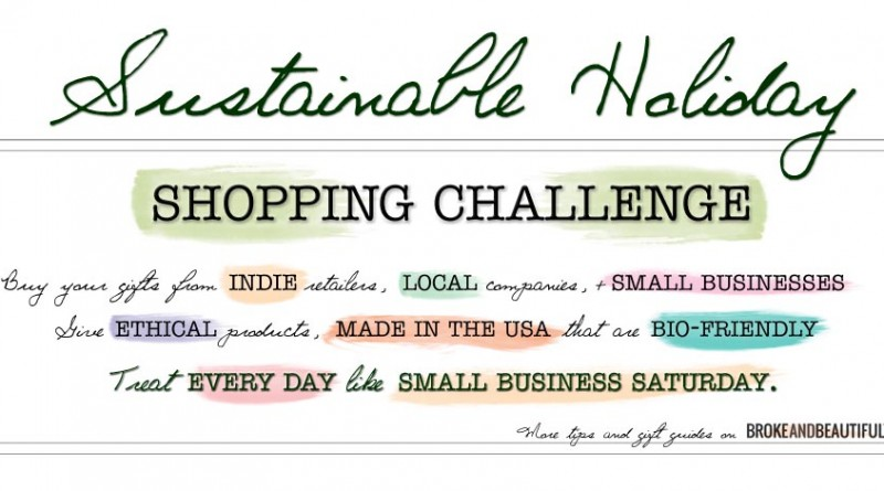 budget-friendly sustainable ecoaffordable holiday shopping challenge