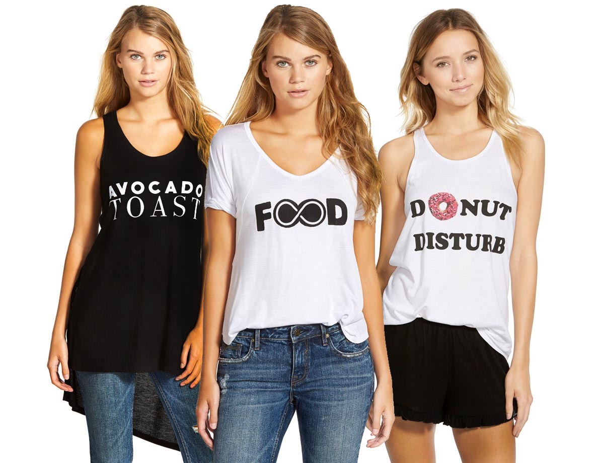 food themed graphic t-shirts