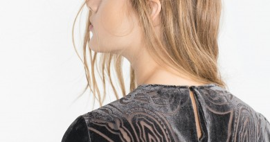 Back of Zara Velvet Dress