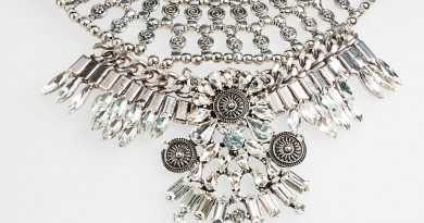 Leith Ornate Crystal Statement Necklace