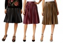 (A)DD: Pleated Faux Leather Midi Skirt