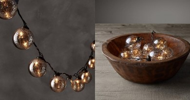 Handblown Vintage Glass String Lights