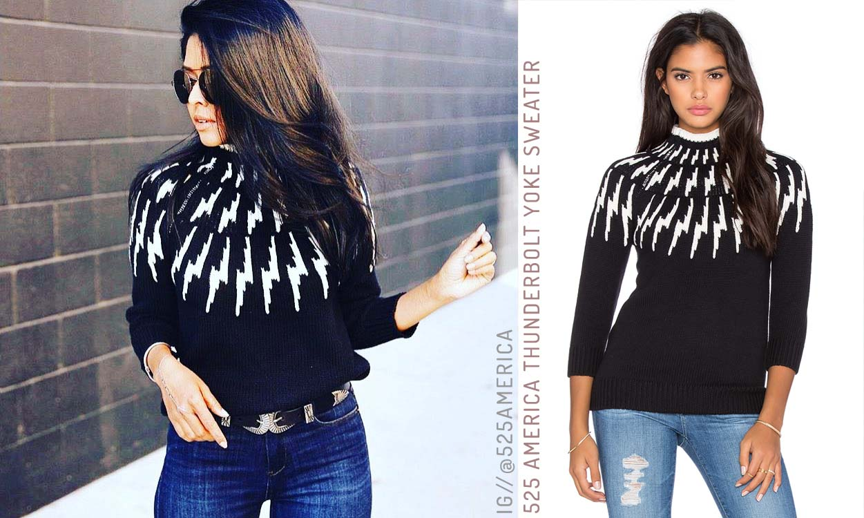 525 American Thunderbolt Yoke Sweater