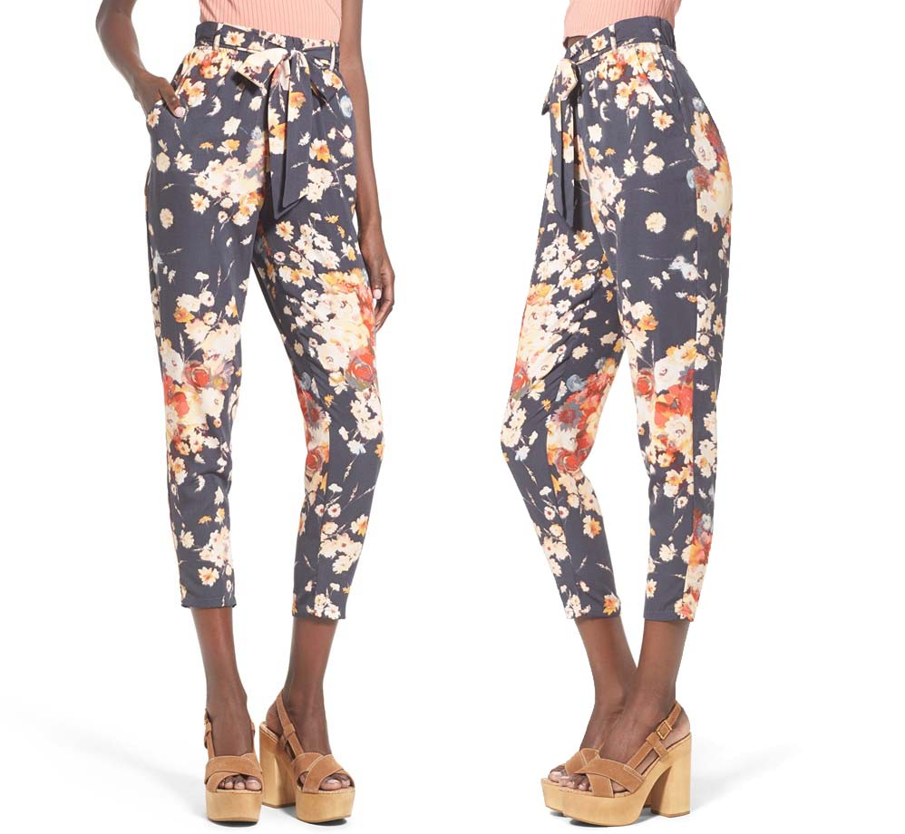 Leith High Rise Crop Floral Pants