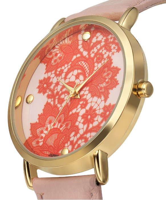 Rosseau Lace Overlay Watch - Red