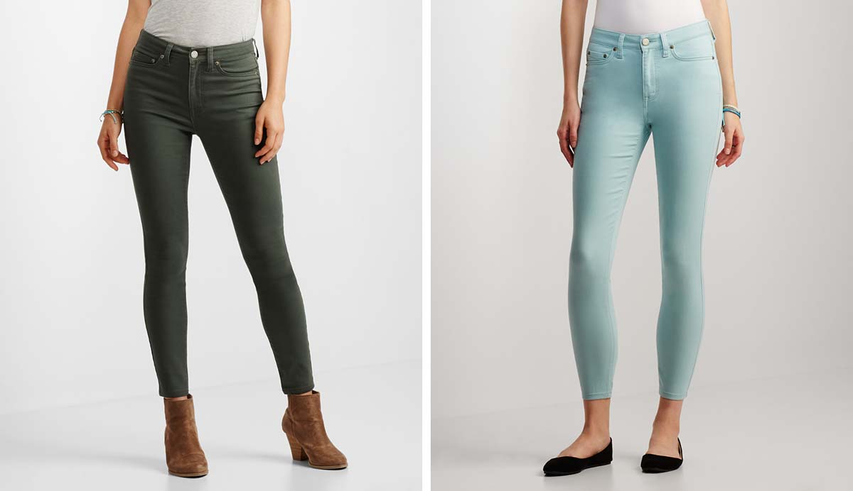 Aeropostale Seriously Stretchy Ankle Jeggings Green Aquatic
