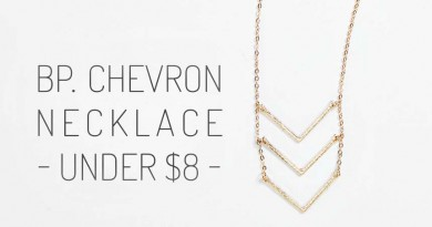 BP Triple Chevron Layering Necklace feat