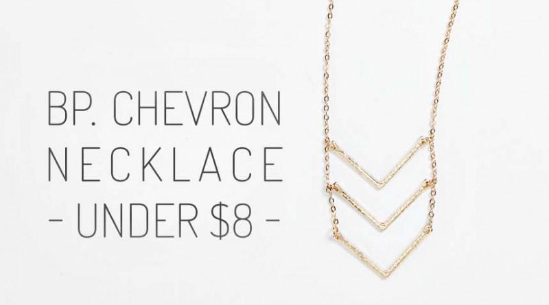 BP Triple Chevron Layering Necklace feat