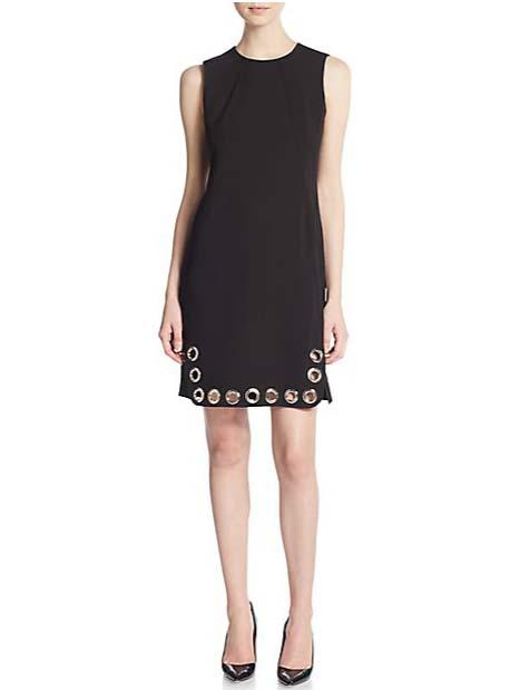 Karl Lagerfeld Grommet Trimmed Shift Dress