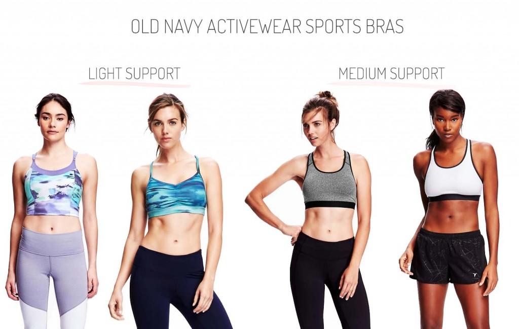 Old Navy Activewear Light Support Medium Support Sports Bras