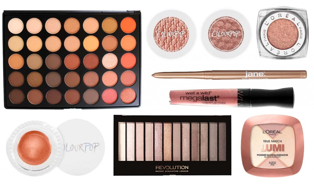 drugstore beauty rose gold makeup products