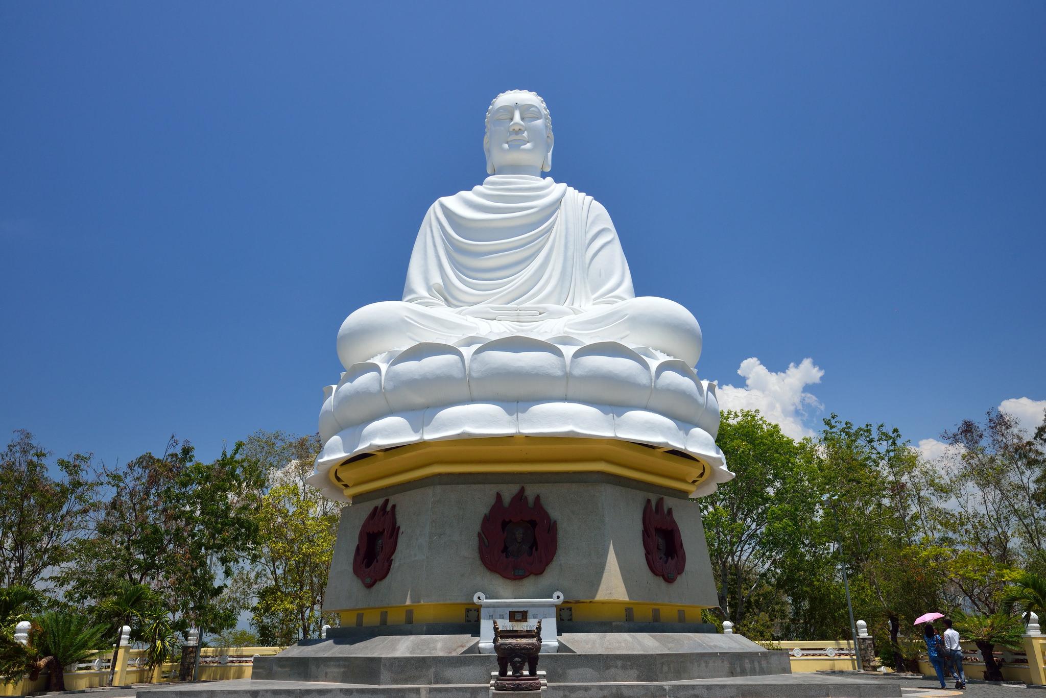 Great Buddha - Long Son Pagoda by Binh Huynh
