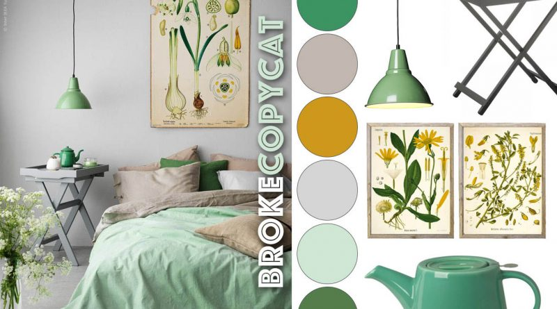Style Remake: Minty Botanical Bedroom