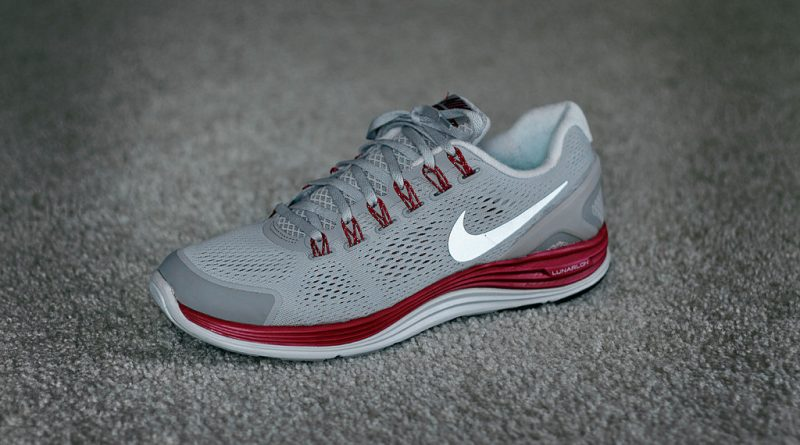 activewear running shoes nike grey workout gear