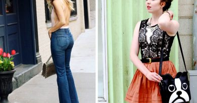 Bodysuit Outfits High Waist Flares & Lace w/ Orange Skirt