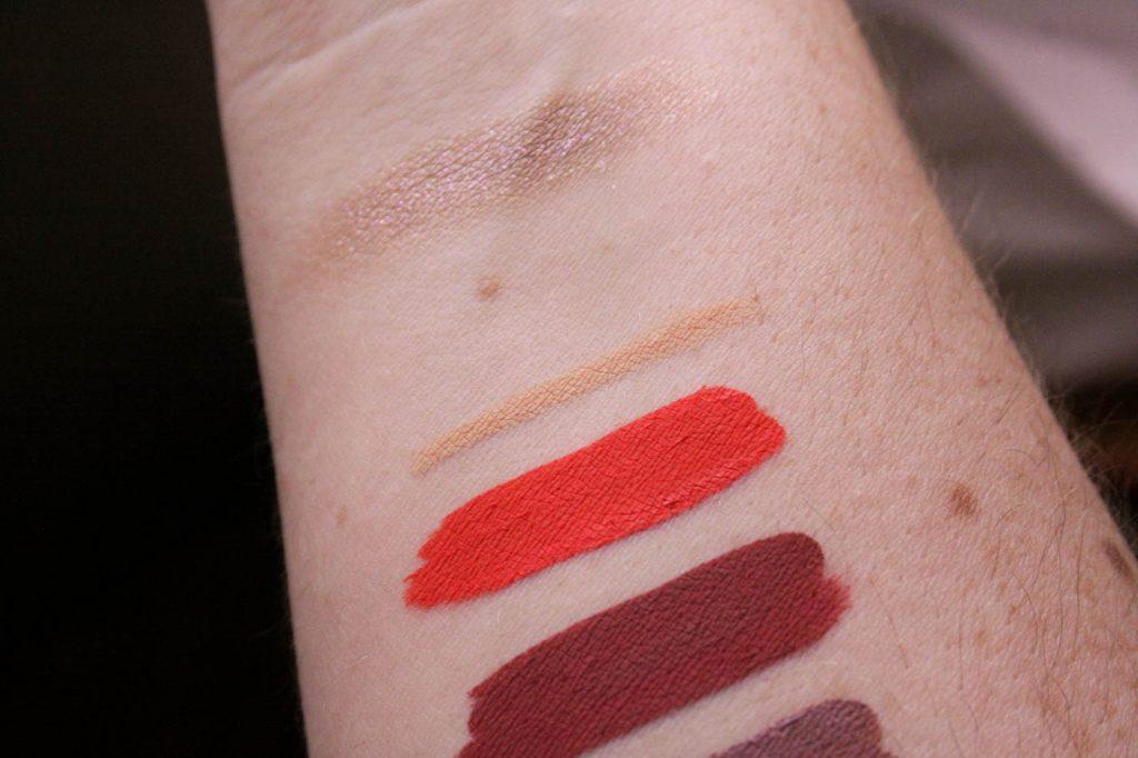 eyeliner liquid lipstick swatches