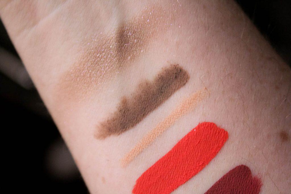 eyeliner brow gel eyeshadow swatches