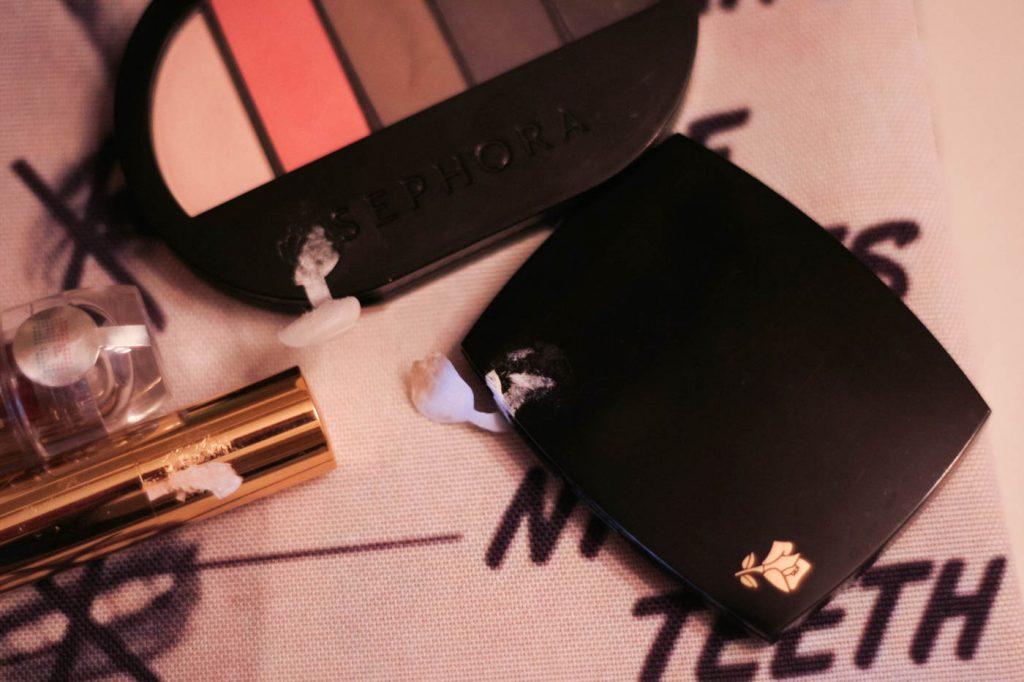 used cosmetics eyeshadow palette quads