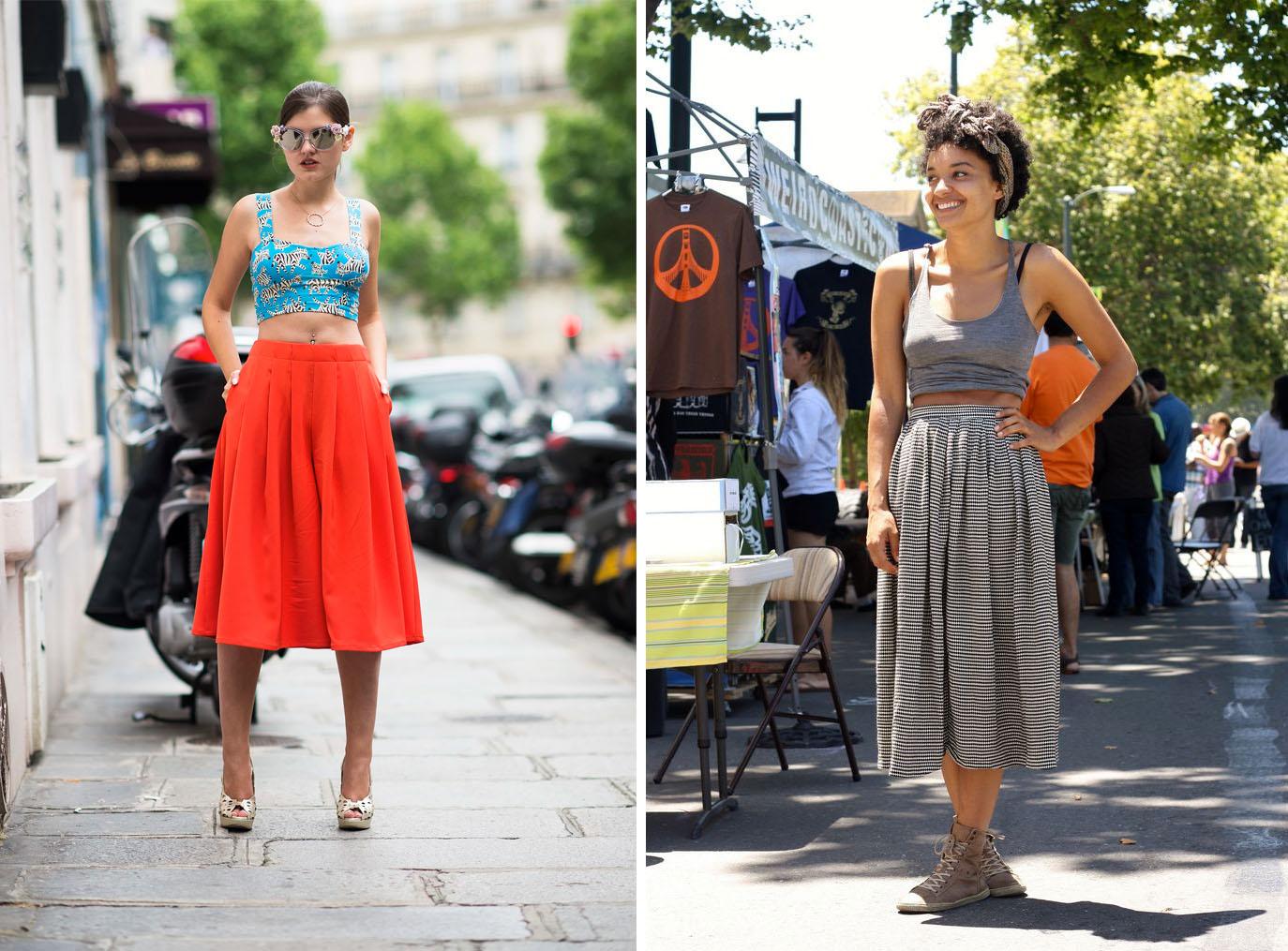 Midi Skirt Crop Top Le 121eme Work it Berk