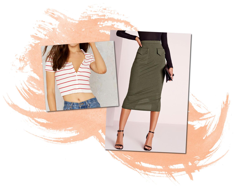 Nastygal One Stop Crop Top Missguided Utility Pocket Midi Skirt