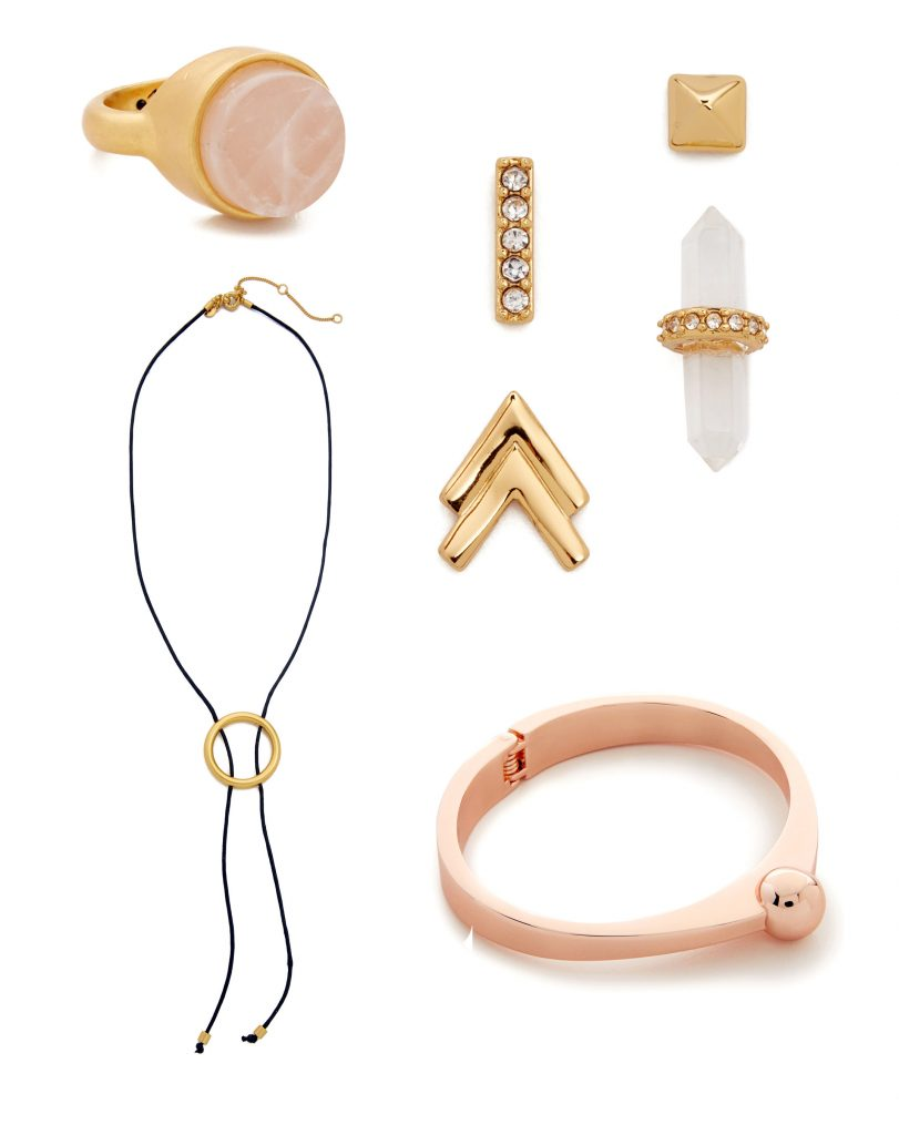 bolo necklace earring set adia kibur bracelet rose gold