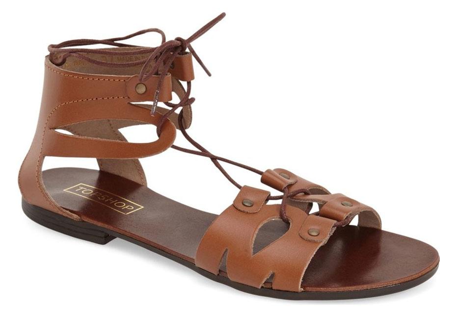Topshop Hilt Lace Cut Out Sandals