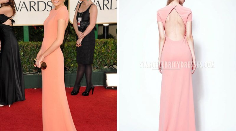 emma-stone-red-carpet-dress-golden-globes-short-sleeve-jewel-neck-pink-evening-gown