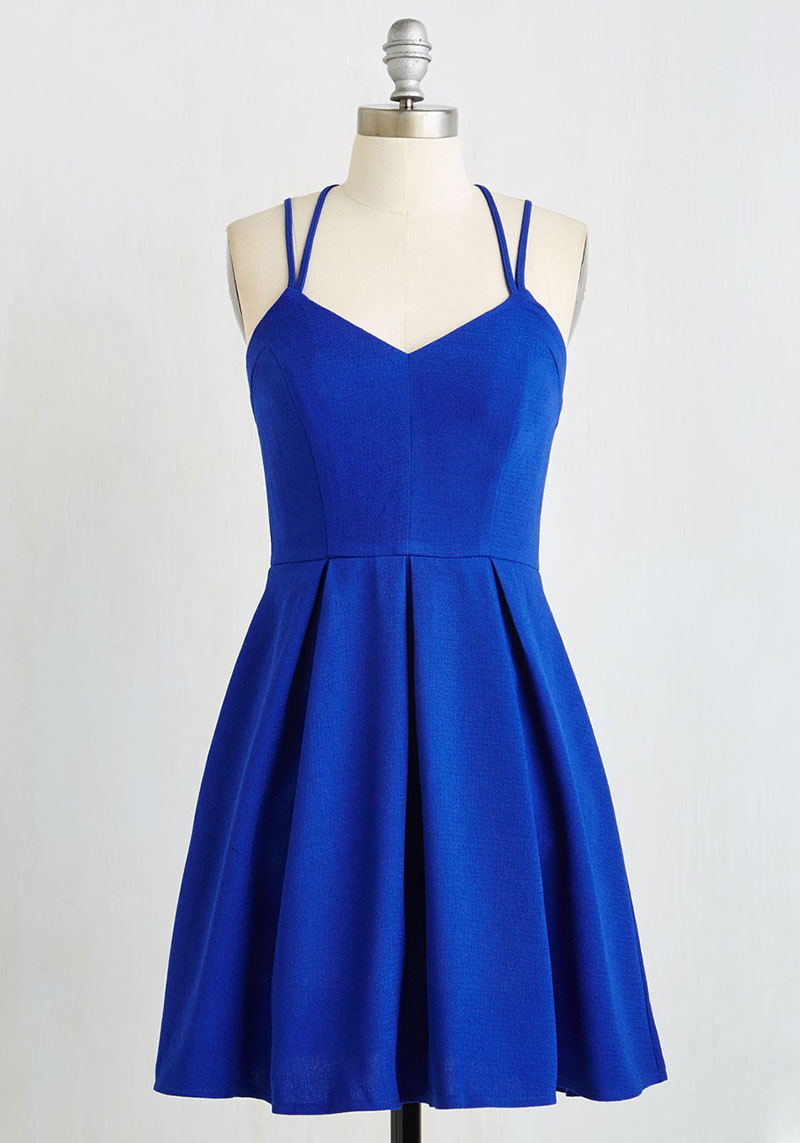 Strappy Blue Layering Dress