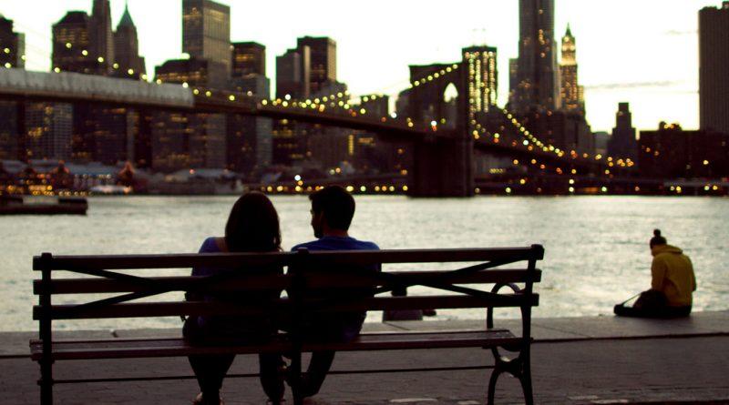 Romane Couple Bench Bridge River Love