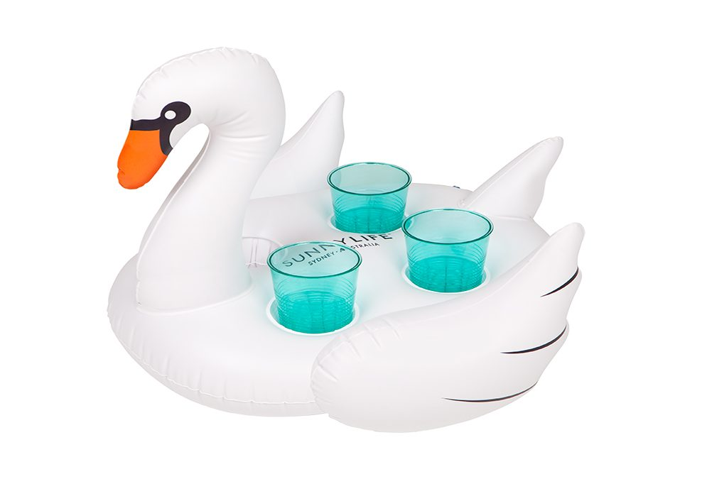 Sunny Life Inflatable Drink Holder Swan