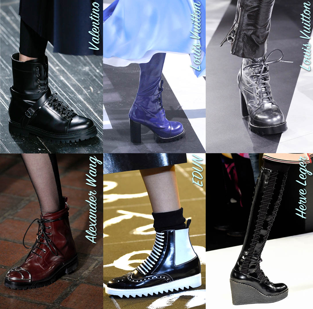 boots heels fall boot trends winter 2016 designer accessories get the look doc martens lace up ankle boots