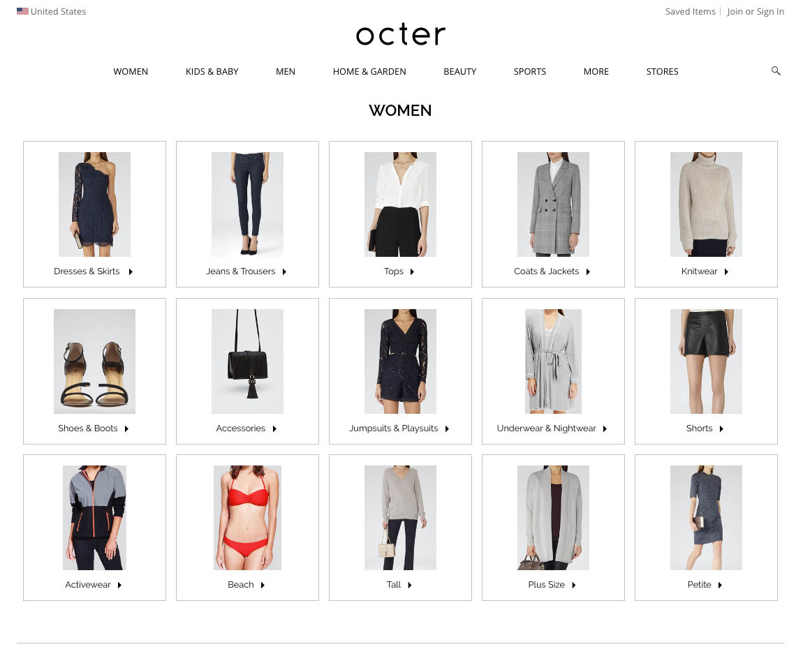 Octer Shopping Womens Fashion Website
