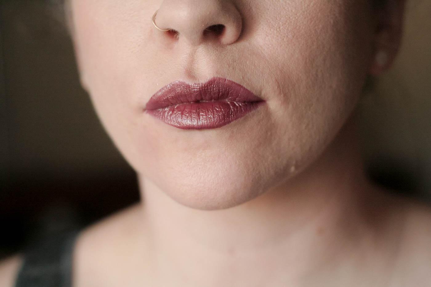metallic plum bronze shimmer vice lipstick palette swatch