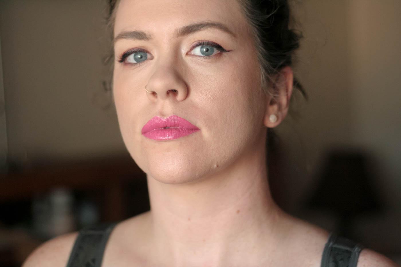 medium pink creme vice lipstick palette swatch